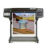 HP Designjet 1050c plus 36 tum fotopapper