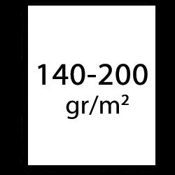 140 till 200 g/m2 plotterpapper