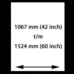 1067mm (42 tum) till 1524mm (60 tum) målarduk