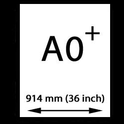 A0 målarduk Oversize (914mm, 36 tum)