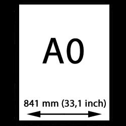 A0 målarduk (841mm, 33,1tum)