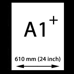A1 Oversize målarduk (610mm, 24 tum)