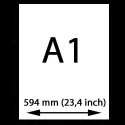 A1 målarduk (594mm, 23,4 tum)