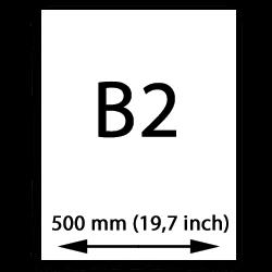 B2 poster papper (500mm, 19,7 tum)